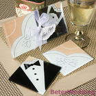 Bride and Groom wedding glass coaster BD031-00@Shanghai Beter Gifts Co Ltd