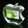 apple-shaped crystal acrylic photo display