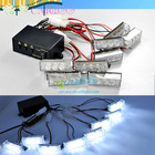 Truck Boat Flash 8 X 3 LED Car Auto Strobe Light Snowy Raining Emergency Light Lamp Pure white