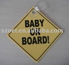 Baby on board signage/warning sign/warning sticker