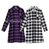 Women's Check Long Shirt;Check One-piece