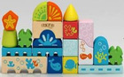 28PCS Wooden Blocks City,wooden toy