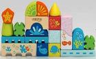 28PCS Wooden Blocks City,wooden toy