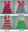 st.patrick's day latest style lace & satin dresses for girls in stock
