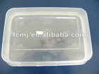 OEM PP Clear Disposable Plastic Lunch Box