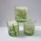 2012 zhongyi natural soy wax candle in glass jar