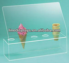 Food plaiglass ice cream display lollipop stand