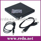USB2.0 CD ROM Case with IDE PATA interface with black color (Kits, Caddy)