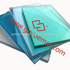 pc solid sheet/polycarbonate solid clear blue green panel/4mm pc sheet roll