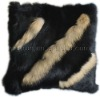 YR-346 Lovely rabbit fur cushion pillow