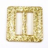 golden glitter resin belt buckle