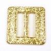 golden glitter resin belt buckle