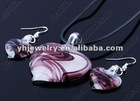2012 Glass Pendant set glass pendant with earring Coloured glaze pendant heart shape pendant 2012fashion style necklace pendant