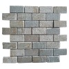 Yellow rectangle natural slate mosaic wall tile