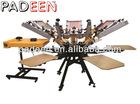 4 colors rotary T shirt screen printing machine manual CT-4/4
