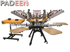 4 colors rotary T shirt screen printing machine manual CT-4/4