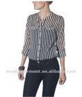 Western design stripe t shirt for women