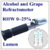 Hot Sale! Portable Hand-held Alcohol and Grape Refractometer RHW-25 ATC