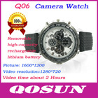 New design Removable Battery and memory card, hidden HD 1280*720 mini hidden watch camera