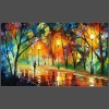 abstract oil painting EVENING IN THE PARK (buy directly)