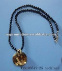 stone plastic beads necklace