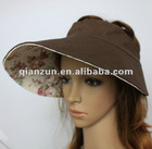 custom flax wide bill uv protection sun visor cap
