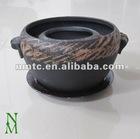 ceramic brown glazed bonsai pot