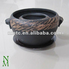 ceramic brown glazed bonsai pot