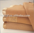 100%polyester blanket in camel color