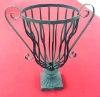 Wrough Iron Flower Pot/planter, Garden Basket, Garden decoration, Metal Urn, Garden ornaments