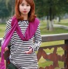 ladies' sweat stripe sweatshirts with hood