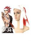 60cm Lucky Red Bleach Abarai Renji Nylon Cosplay Wig
