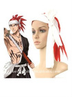 60cm Lucky Red Bleach Abarai Renji Nylon Cosplay Wig