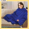 highest quality Microfleece TV blanket with a pocket(YXBLT-11101255)