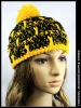 crocheted acrylic hat