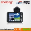 2.8 inch LCD Cycled recording dual lens car recorder