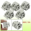 2 Pole 10mm Pitch 5x20mm Fuse Terminal Block Gray