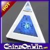 Led Pyramid Triangle Digital Alarm Clock