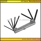 Quality 9 pcs folding hex key Made from S2 with black surface