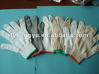 white knitted cotton gloves for working safety