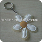Flower Rubber PVC Key Ring