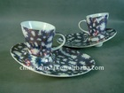 80ml Porcelain Cappuccino coffee cup with saucer