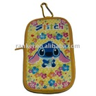 carton cute yellow buckle zipper purse wallet bag
