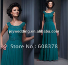 HC0027 Top selling Round neck A-line Applique mother cocktail gown