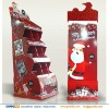 Christmas promotion Santa Claus Cardboard store display stand