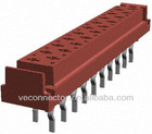 red 1.27mm Tyco IDC connector dip to PCB