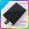 Full capacity the latest capacity 500GB hdd for hard drive disk XBOX 360 slim
