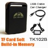 2010 New GPS Tracker TK102B TF Card Solt Car/person Track device+Car Charger+USB Bundle