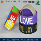 fashionable colorful silicone print rubber bracelet