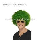 st patrick's day party green curl wig